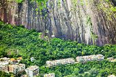 Residential Area At The Foot Of A Mountain In Rio De Janeiro, Brazil