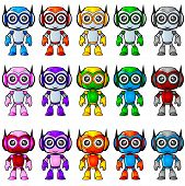 image of chibi  - Friendly Colorful Robot Mascot with cute face - JPG