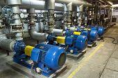 Blue Industrial Pump