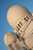 Abu Dhabi Sheikh Zayed Mosque In United Arab Emirates