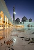 Night Shot From Abu Dhabi Sheikh Zayed Mosque