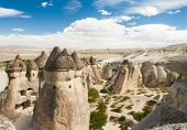 stock photo of phallic  - Fairy tale chimney rocks in Pasabg  - JPG