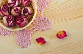 lovely dried roses