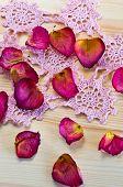 beautiful dried rose petals