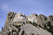 image of mount rushmore national memorial  - Views of Mt Rushmore located in the Black Hills of South Dakota - JPG