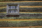 picture of cade  - A close up image of a log cabin wall in Cades Cove - JPG