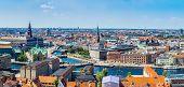 picture of copenhagen  - Large panorama view of Copenhagen in Denmark - JPG