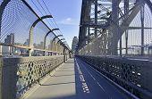 Pedestrian path on Sydney Harbour Bridge, Australia