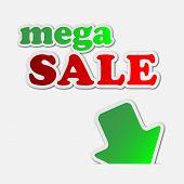 Mega Sale - Information Sign