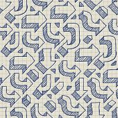 Arrows Seamless Pattern on Paper of Exercise Book