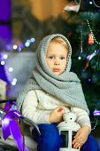 The Girl Near A Christmas Fir-tree 23