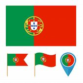 Portugal, country flag vector