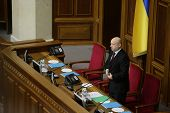 Head Of Verkhovna Rada Olexander Turchynov During The Parliament Meeting. 27 November 2014