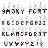 English  smoking alphabet