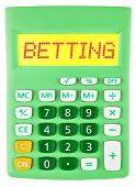 Calculator With Betting On Display
