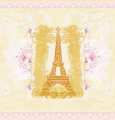 Eiffel Tower Artistic Background