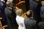 KIEV, UKRAINE - November 27, 2014: Yulia Tymoshenko in Parliament of Ukraine