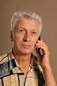 man makes call