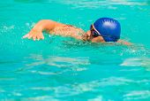 Competition In Competitive Swimming In The Pool Outdoors