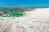 Good Clear Weather And A Beautiful View From The Top Of Pamukkale
