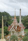 The view from the observation deck of Grand Pagoda. Chalong Temple complex (Royal). Phuket, Thailand