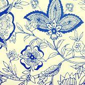 Vintage Wallpaper With Vignette Pattern