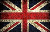 Flag of Great Britain, mosaic