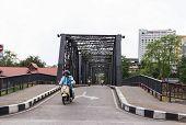 The Bridge On Loikroh Road Across Ping River In Chiangmai City.