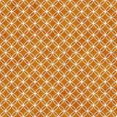 Orange And White Interlocking Circles Tiles Pattern Repeat Background