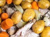 Chicken Casserole With Carrots And Potatoes