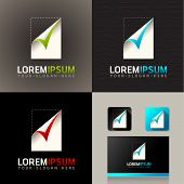 Paper Logo Icon and vector web identity