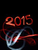 New Year's Eve 2015 With Abstract Lights