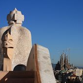 Gaudi Chimneys, Barcelona
