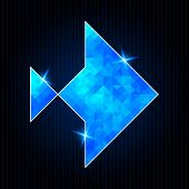 Abstract Polygonal Fish