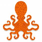 Cartoon Spotty Octopus