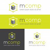 Vector modern logo for web studio or finance company
