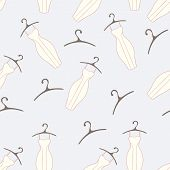 Dresses And Hangers Seamless Pattern
