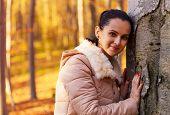 Cute Smiling Woman Posing In Nature