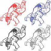 foto of judo  - Vetctor collection of judo for cutting art illustration cute - JPG