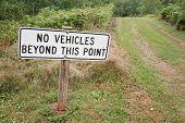 No Vehicles Sign