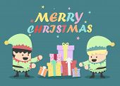 Vintage Christmas Eves Poster Design Illustration