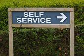 Self Service Sign