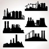 Vector Set of Industrial Buildings