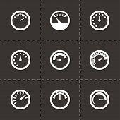 Vector meter icon set