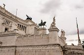 stock photo of altar  - Vittoriano or altar of the fatherland in Venice Square in Rome - JPG