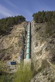foto of hydroelectric  - Hydroelectric pipe  - JPG