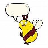 image of bee cartoon  - cartoon bee - JPG