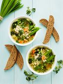 pic of nettle  - Soup with pearl barley nettle carrot and leek - JPG