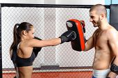 picture of sparring  - Sparring fight - JPG