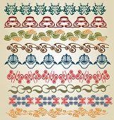 image of art nouveau  - big set pattern element art nouveau color - JPG